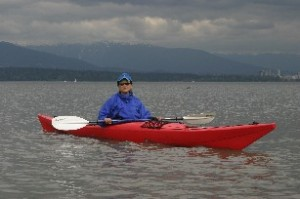 Kayaking on English Bay, Vancouver, British Columbia